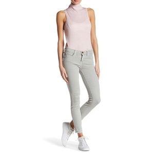 Current Elliot Stiletto Grey Released Hem Jeans